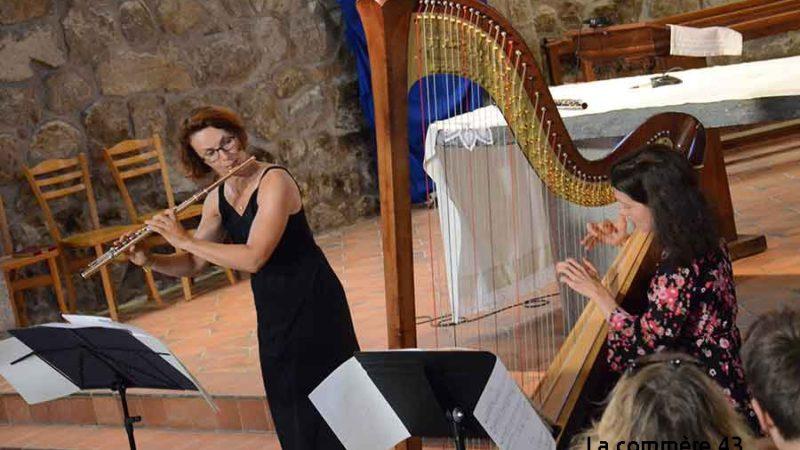 vendredi 26 août 2016 – Eglise de Chenereilles – Festival Vivarais Lignon – Duo flûte et harpe –