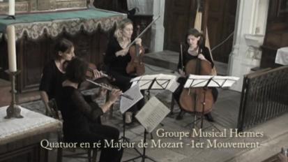 Mozart – Quatuor en ré majeur – 1er Mouvement