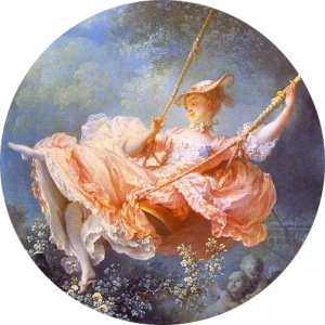 """Les hasards heureux de l'escarpolette"" Fragonard 1767/1768 - Wallace Collection - Londres -"